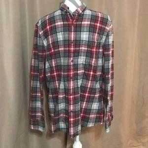 14th & Union large plaid flannel button down shirt